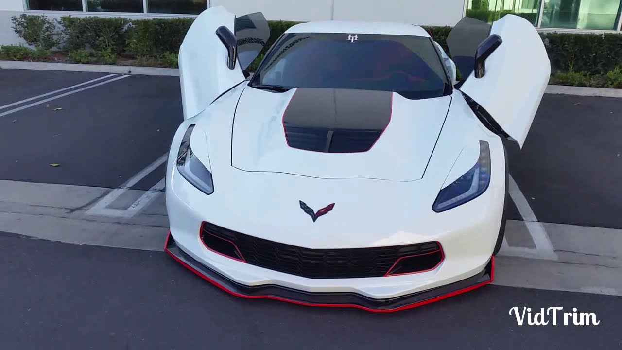 2015 Corvette Z06 with ZLR doors - YouTube