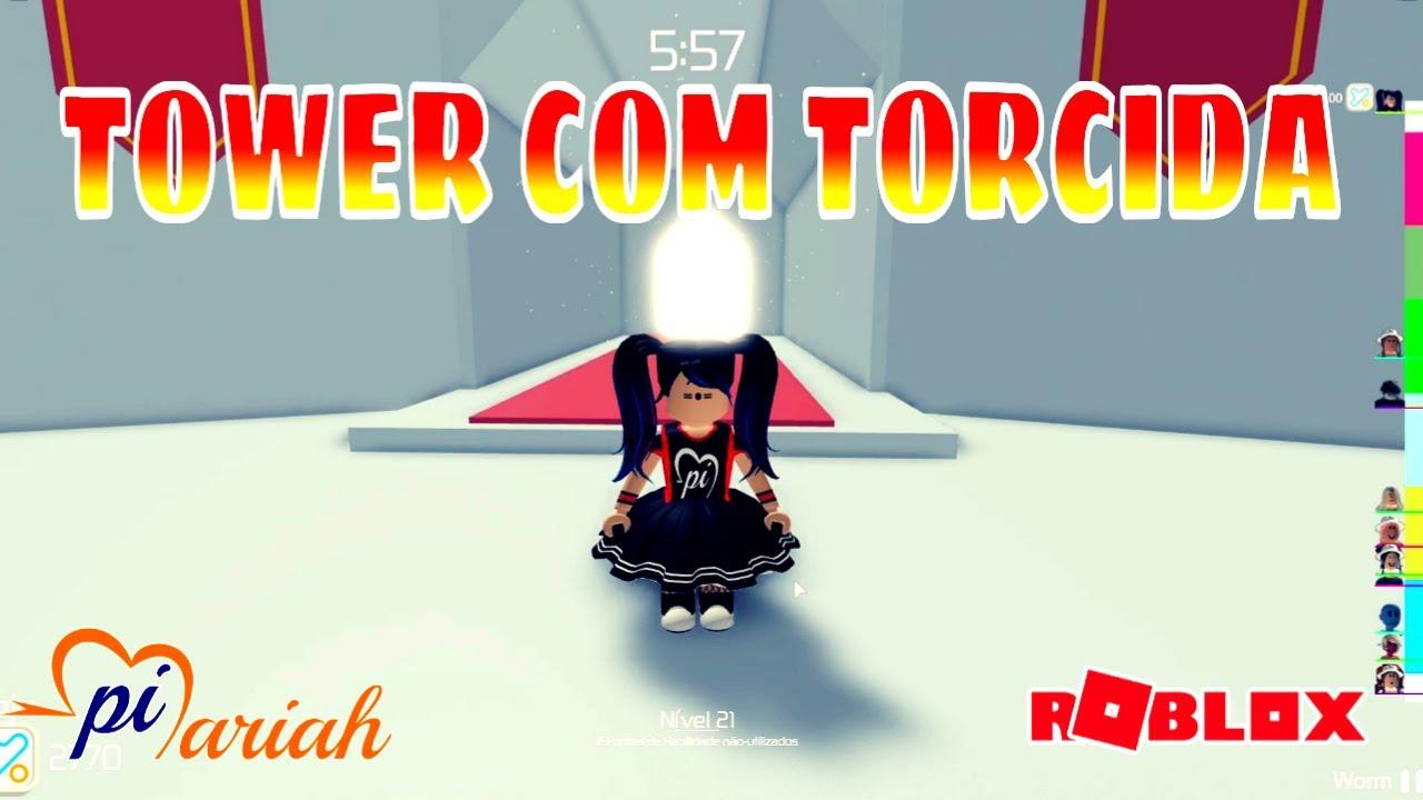 JOGANDO TOWER COM TORCIDA - Roblox