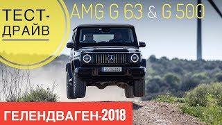 G-класс: очередь уже на год! Тест-драйв, разгон и офф-роуд. Новый Гелендваген AMG G63 и G500. Обзор