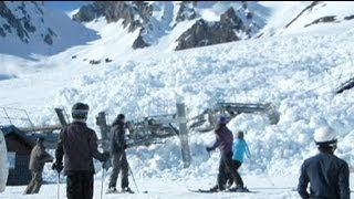 Giant avalanche takes out a chair lift in France - no comment