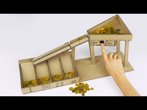 Thumbnail: DIY Automatic Coin Sorting Machine from Cardboard v2.0