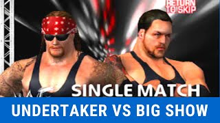 UnderTaker VS Big Show  WWE RAW 2002 PC Game play