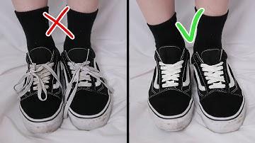 신발끈 안보이게 안으로 묶는법 How to hide your shoe laces 3easy wasy