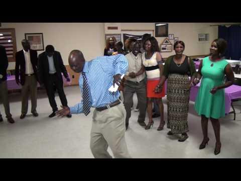 SOUTH SUDANESE ARTIST, MIJAK BOL IN DES MOINES IOWA