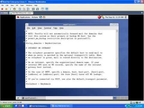 Linux Redhat# Postfix SMTP Send Mail Without Using Authentication