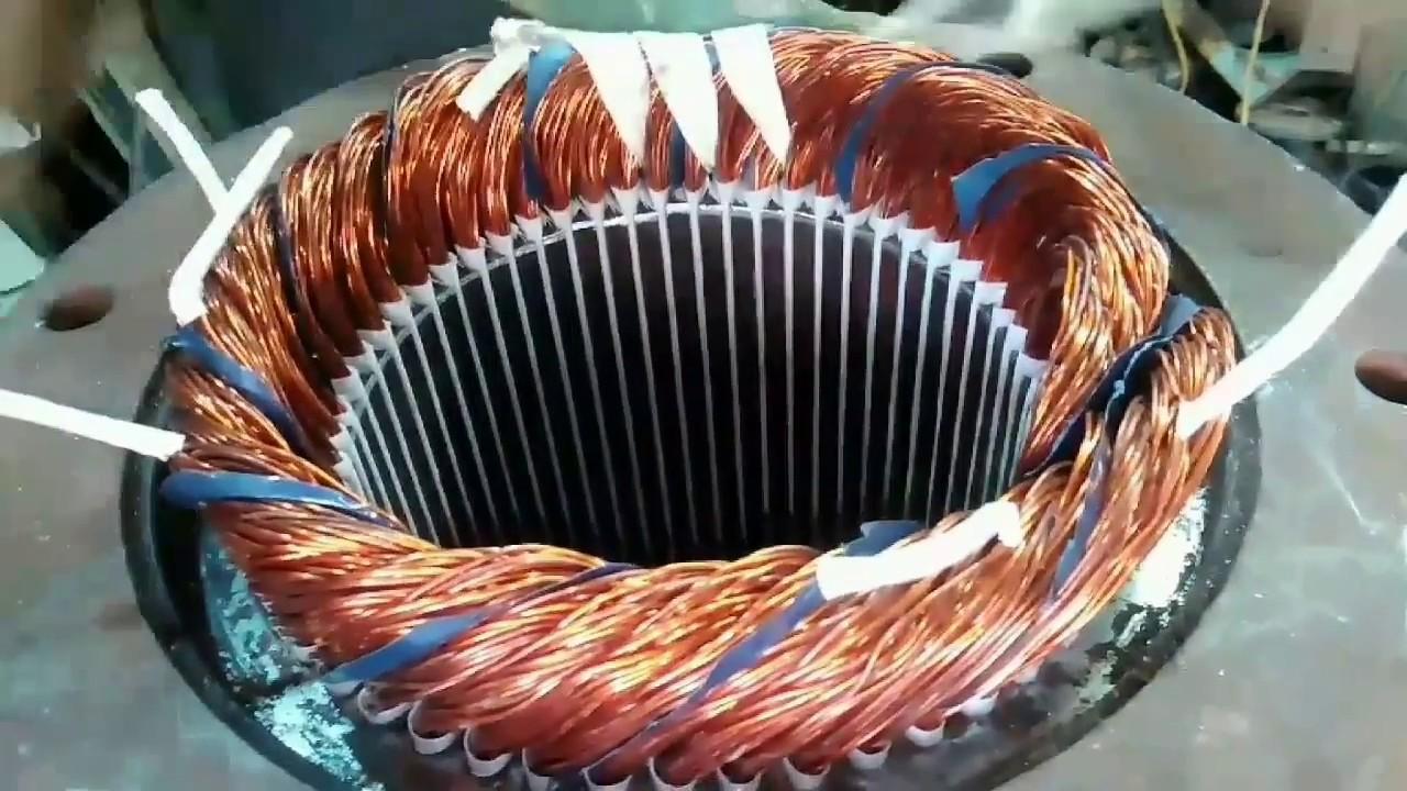 Three phase Induction Motor Rewinding Part 2 - YouTube