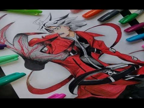 How To Draw   Dibujando Drawing   SpeedDraw   Ragna Bloodedge Blazblue   Ilustration Venezuela