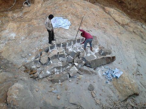 Chemical Blasting Of Rocks.