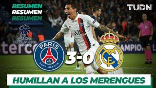 Resumen y Goles PSG 3 - 0 Real Madrid   UEFA Champions League  - Jornada 1   TUDN