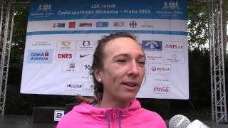 Eva Vrabcová-Nývltová po triumfu v závodě Běchovice-Praha