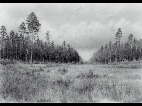 Drawing a landscape with a pencil realistic drawing technique time lapse youtube