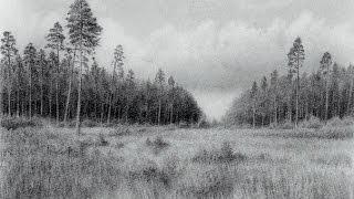 Drawing a Landscape with a Pencil (Realistic Drawing Technique) | Time Lapse