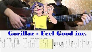 [Gorillaz] Разбор Feel Good inc. на гитаре | (Уроки гитары) PlayThis#3