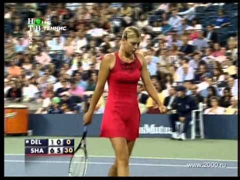 Maria Sharapova Red Dress US Open 2007
