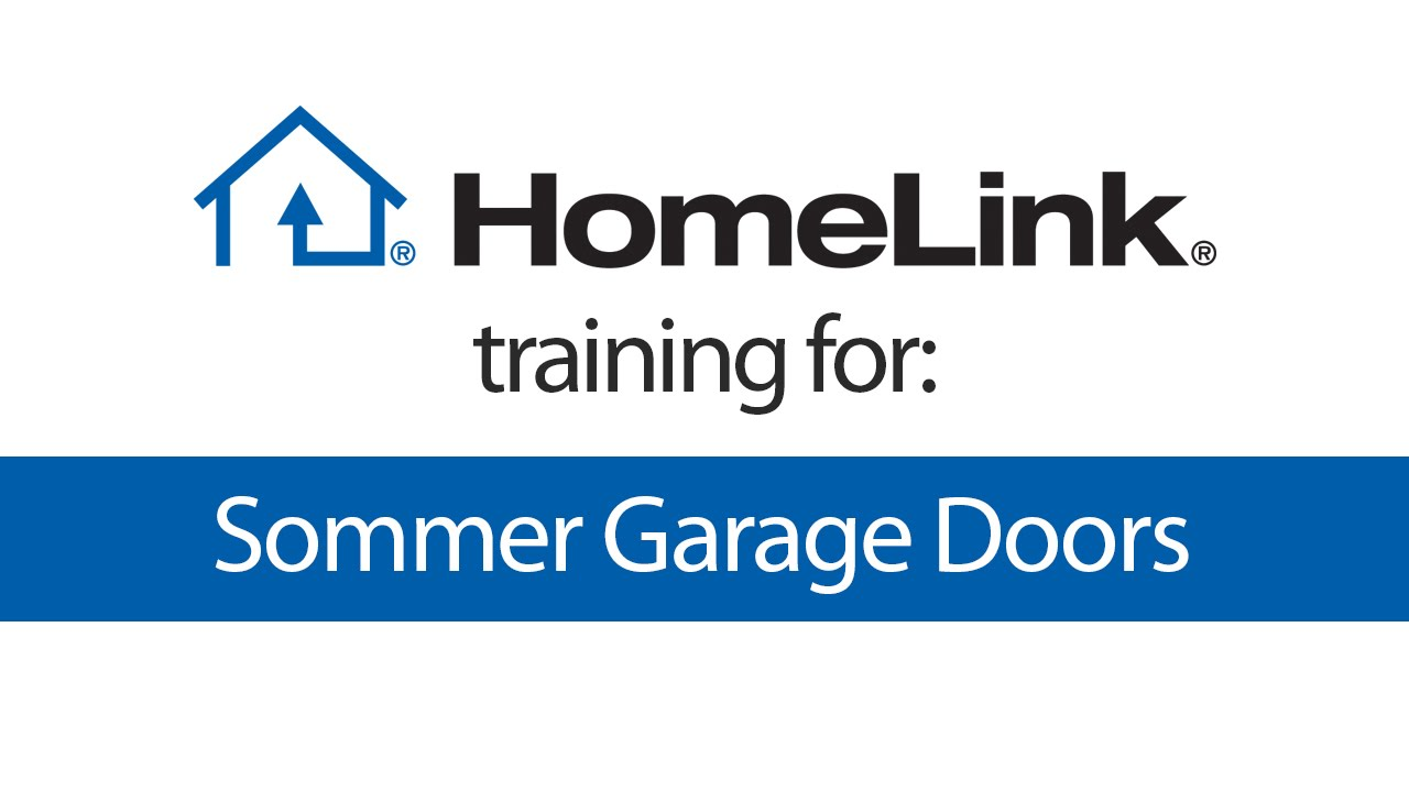 Homelink Training For Sommer Garage Door Openers Youtube