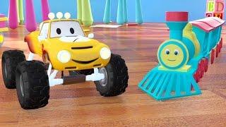 Поезд Тед и мини джип Лукас   мультфильм для детей на русском языке про машинки