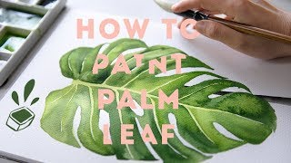 Therapeutic Art Marking | Watercolor Tropical Leaf (slow Tutorial)