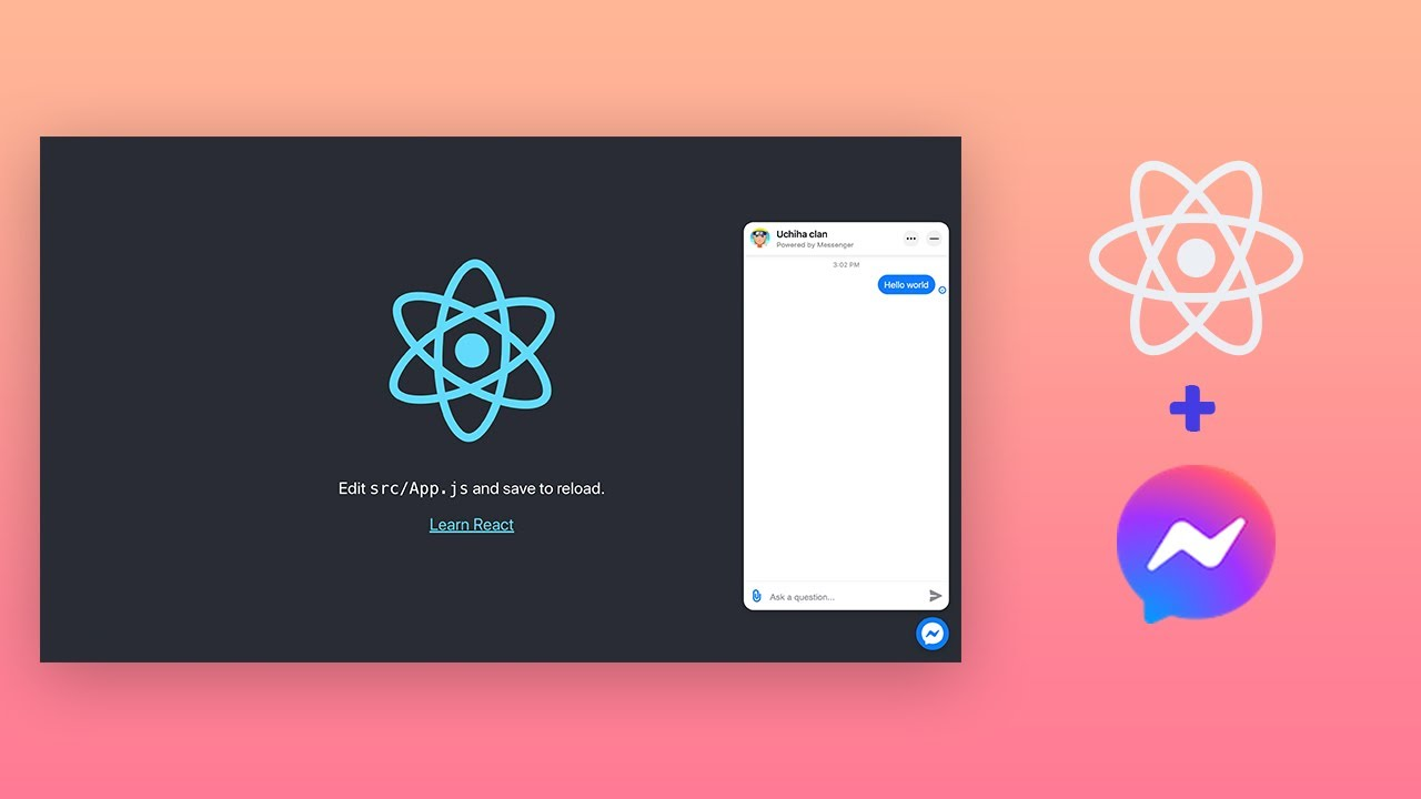 Download Add Facebook messenger customer chat in React App.