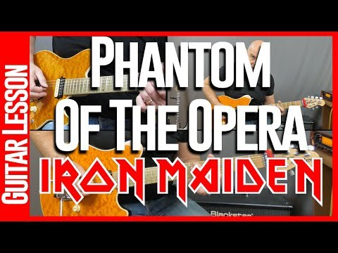 Phantom Of The Opera By Iron Maiden - Guitar Lesson Tutorial