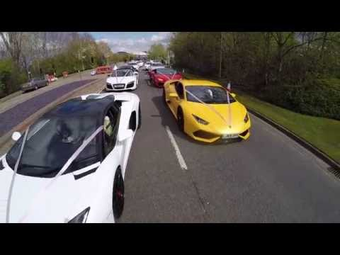 Asian Wedding Baraat Day  Ali & Sadhaf  Super Cars Highlights 2016