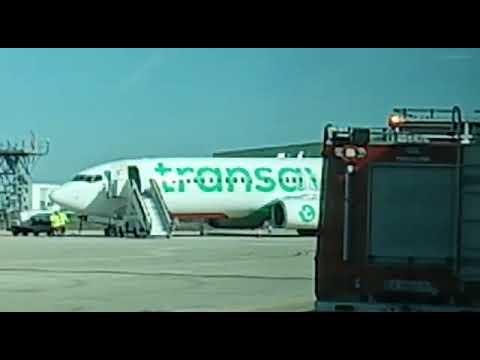 Dispositivo desplegado por el vuelo desviado por emergencia médica a Valladolid