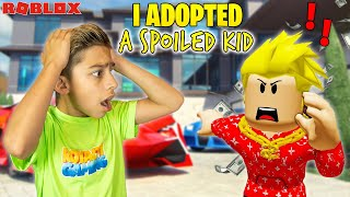 Ferran ADOPTS a SPOILED KID in Roblox Brookhaven! | Royalty Gaming
