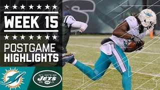 Dolphins vs. Jets | NFL Week 15 Game Highlights