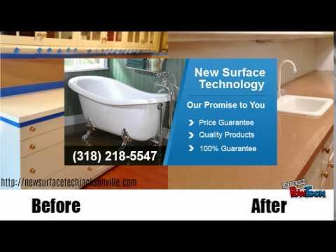 Jacksonville, FL kitchen cabinet refacing - YouTube