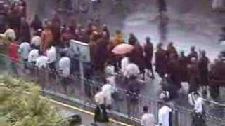 Marching monks in Rangoon on September 18th and 19th Thumbnail
