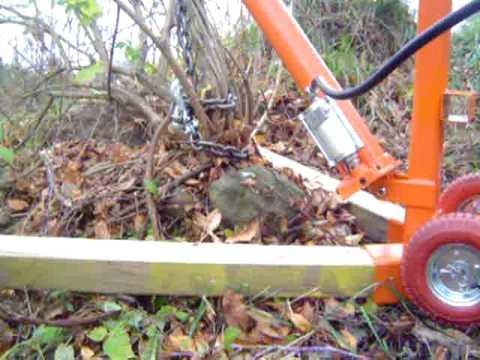 Stump Shrub Bush Tree Or Anything Puller Youtube