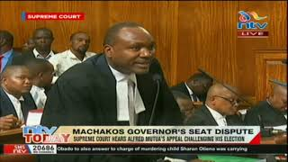 Supreme Court hears Alfred Mutua's appeal challenging his election