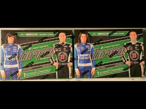 Two 1017 Panini Nascar Torque racing trading cards box opening. New Nascar Sunday series.
