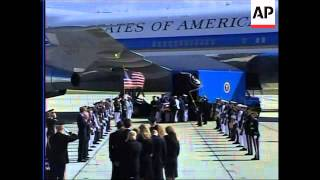 WRAP Family, casket leave California for state funeral in capital