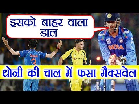 India Vs Australia : MS Dhoni's strategy got  Glenn Maxwell out, Know How ?|वनइंडिया हिंदी
