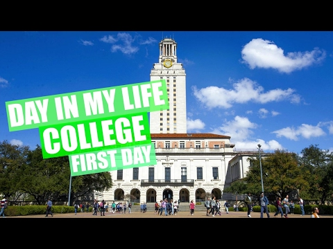 DAY IN MY LIFE: COLLEGE (First Day) University of Texas | JustAli