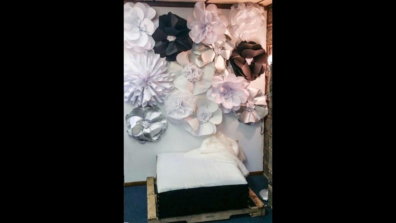 Paper flower wall diy yelomdiffusion diy 3d paper flower wall tutorial youtube mightylinksfo
