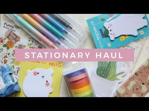 HUGE ASIAN STATIONERY HAUL💕  giveaway closed | 淘宝购物分享
