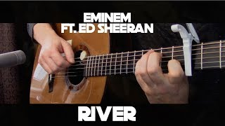 Download Eminem - River ft. Ed Sheeran - Fingerstyle Guitar MP3 song and Music Video