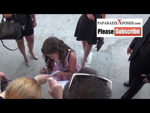Emma Tremblay arrives to the Elysium Premiere in Westwood 2
