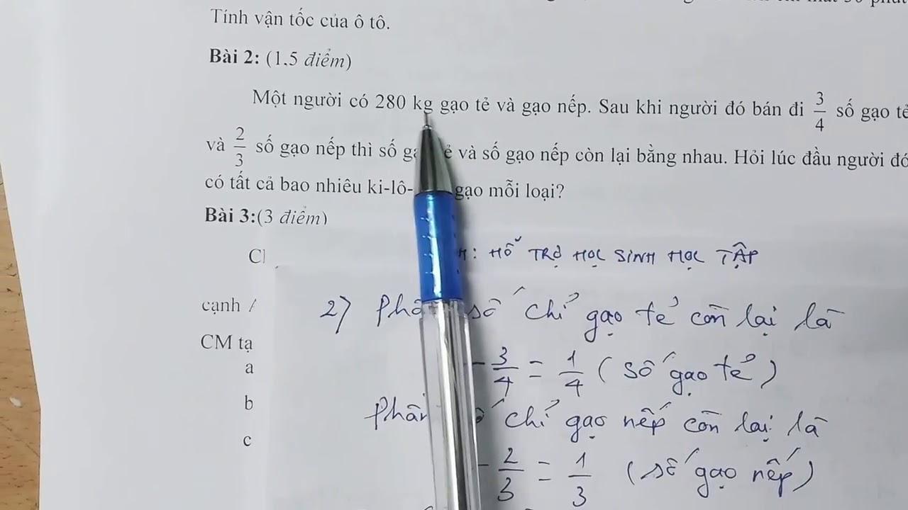 Toán lớp 5  đề thi vào lớp 6   đề 3