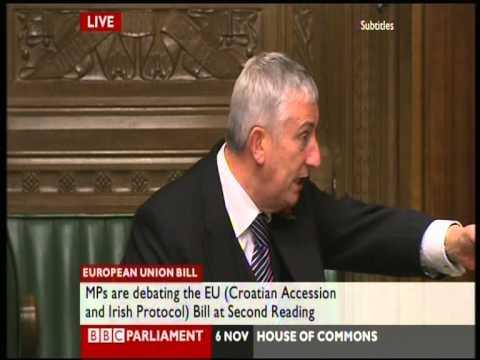 Lindsay Hoyle - ticks off a member for being late, deputy speaker