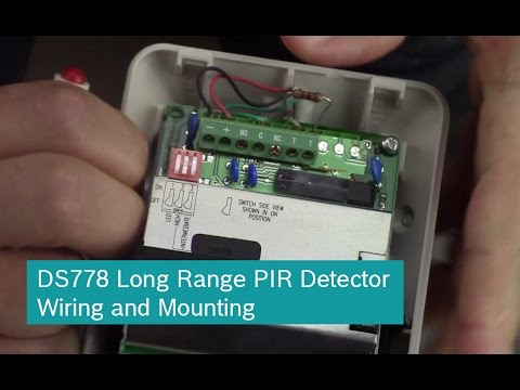 Bosch DS778 Long Range PIR Detector Wiring and Mounting on
