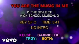 High School Musical Cast - You Are The Music In Me (Karaoke)