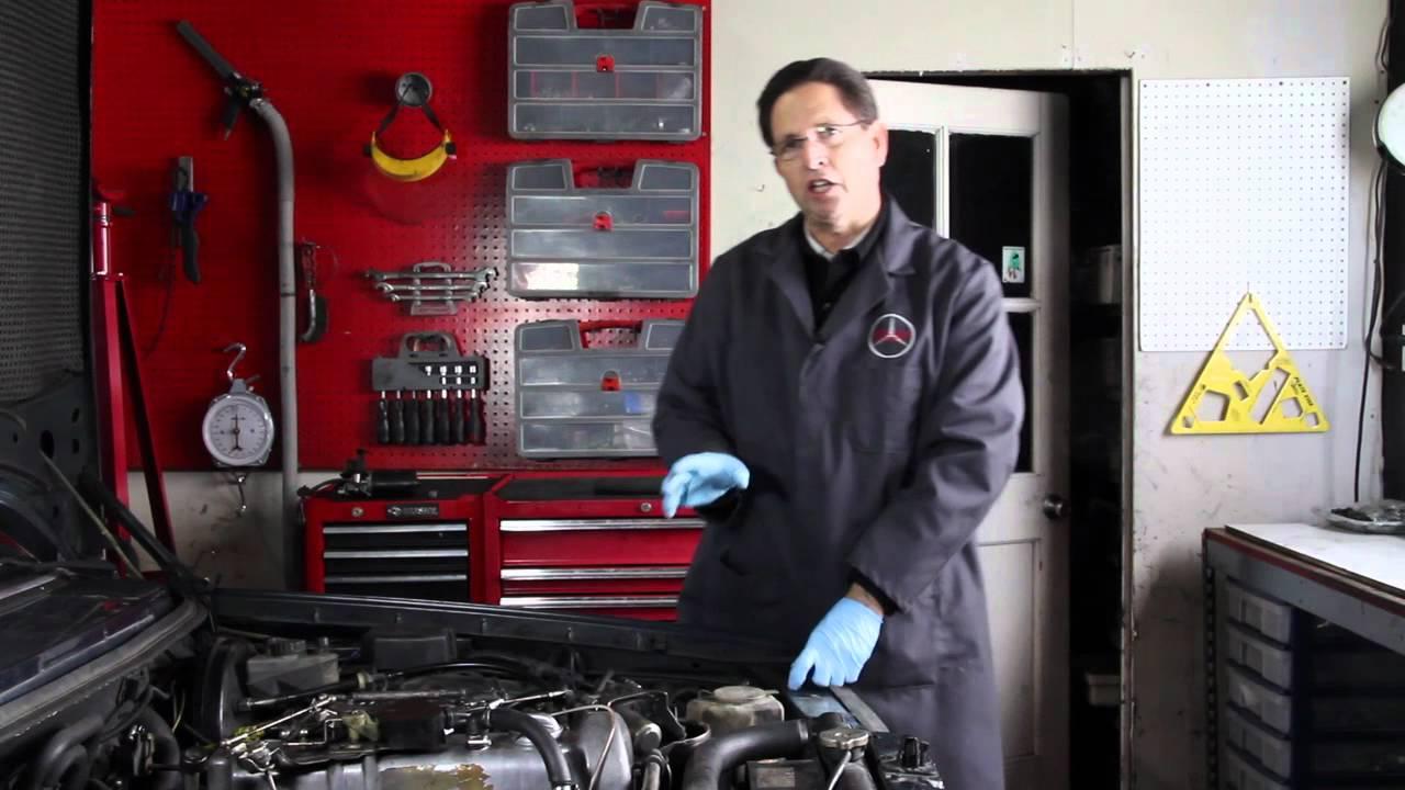mercedes power steering pump fluid leak diagnosis and repair [ 1280 x 720 Pixel ]