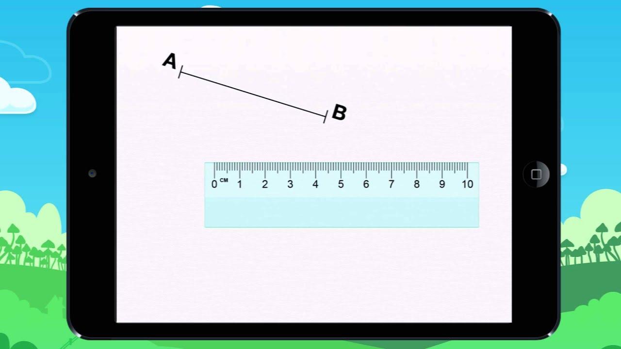 Vid o 1 le on apprends placer la r gle pour mesurer un segment youtube - Regle pour mesurer ...