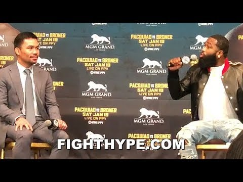 "ADRIEN BRONER GETS IRRITATED WHEN PACQUIAO ASKED ABOUT MAYWEATHER REMATCH; LASHES OUT ""F FLOYD"""