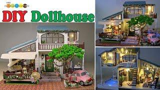 DIY Miniature Dollhouse kit - London holiday and Christmas ドールハウスキット ロンドンホリデイをクリスマス仕様で作りました
