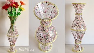 Best Out Of Waste Plastic Bottle Flower Vase - 3 / DIY / Plastic Bottle Craft Idea | Priti Sharma