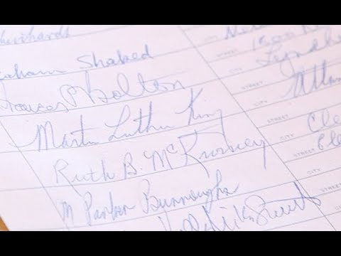 Dr. Martin Luther King Jr. signature discovered in Karamu House guestbook (video)