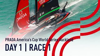 DAY 1 | RACE 1 | Luna Rossa vs Emirates Team NZ | PRADA America's Cup World Series Auckland, NZ